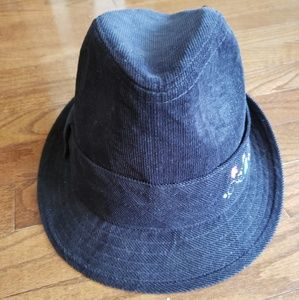Fedora hat in black corduroy